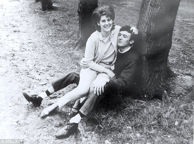 The couple, pictured above courting in 1964, were married in April 1966, at a church wedding in Ormskirk