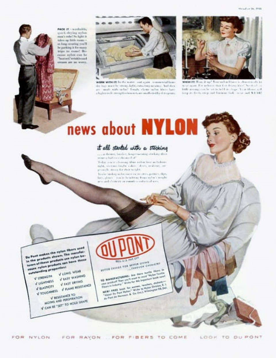 DuPont advert for Nylon, 1948